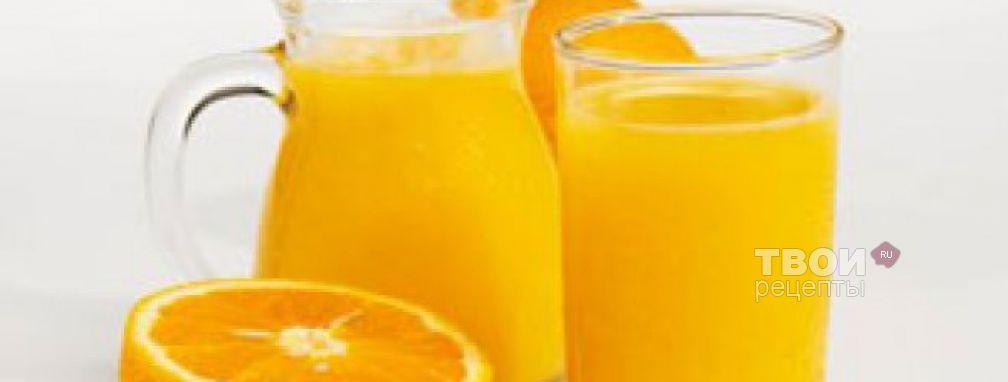 Апельсиновый сок 1ст - Рецепт