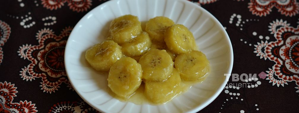 Бананы в карамели - Рецепт