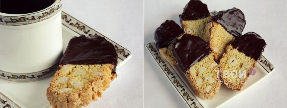 Бискотти с арахисом и шоколадом - Рецепт