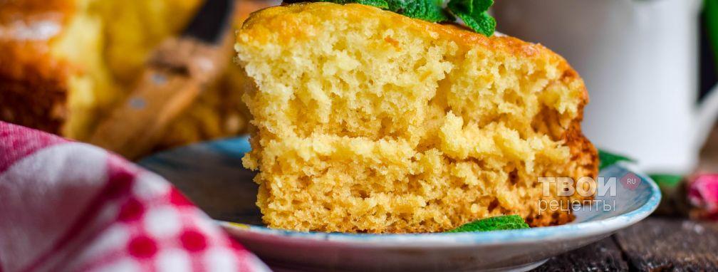 Бисквит на кефире - Рецепт