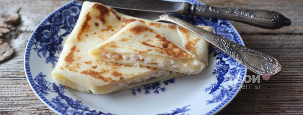 Блинчики с ветчиной и сыром - Рецепт