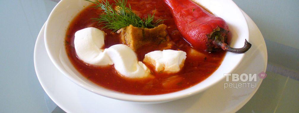 Борщ украинский - Рецепт