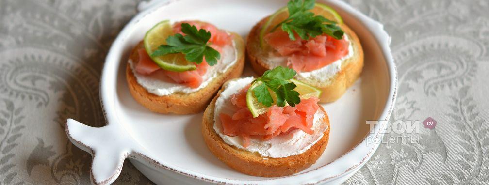 Бутерброды с семгой - Рецепт