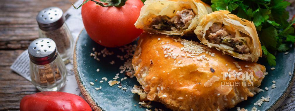 Чебуреки в духовке - Рецепт