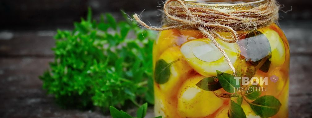 Чеснок в масле на зиму - Рецепт