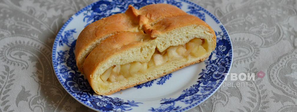 Дрожжевой яблочный пирог - Рецепт