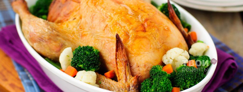 Фаршированная курица в духовке - Рецепт