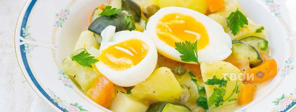 Кабачки тушеные с овощами - Рецепт