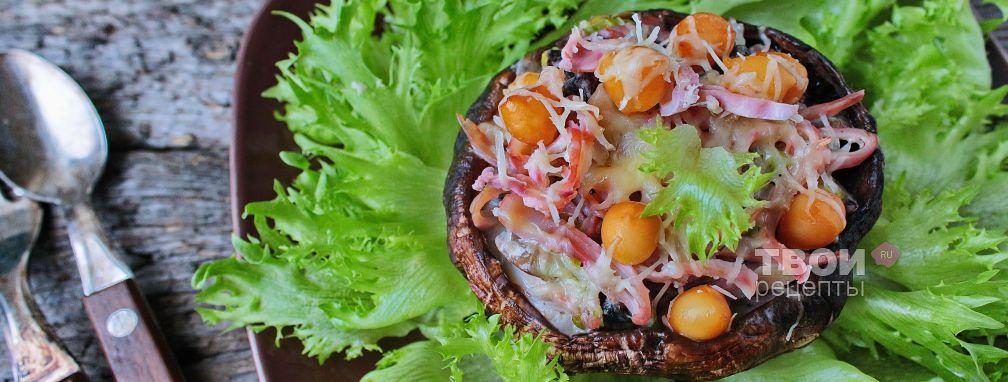 Кальмары с грибами - Рецепт
