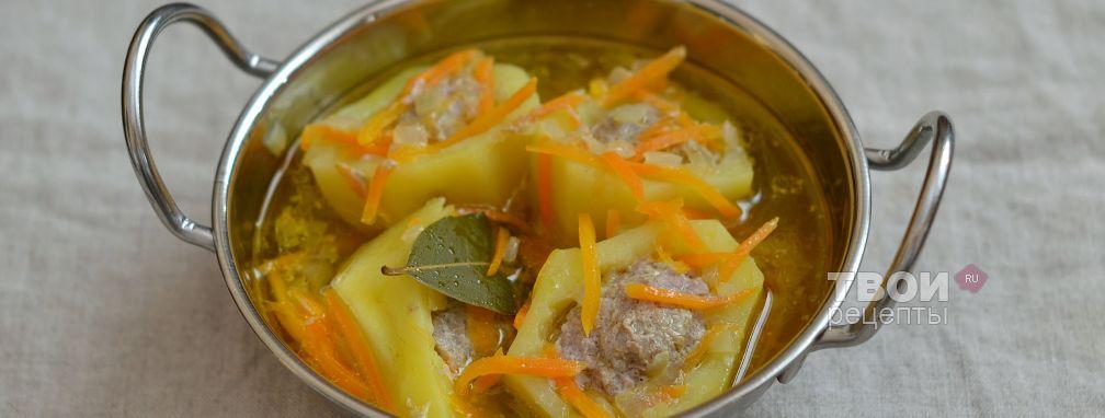Картофель, фаршированный фаршем - Рецепт