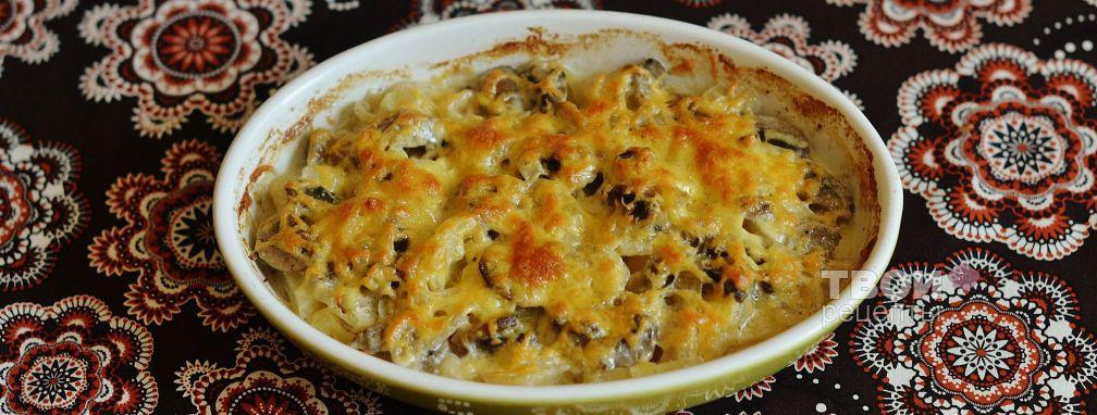 Картофель с грибами в духовке - Рецепт