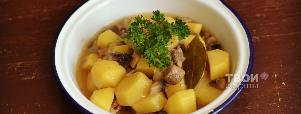 Картофель с грибами в мультиварке - Рецепт