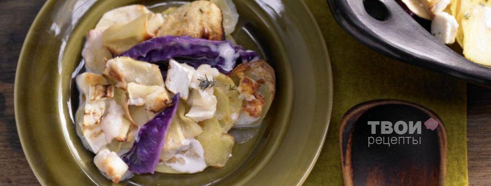 Картофель с капустой - Рецепт
