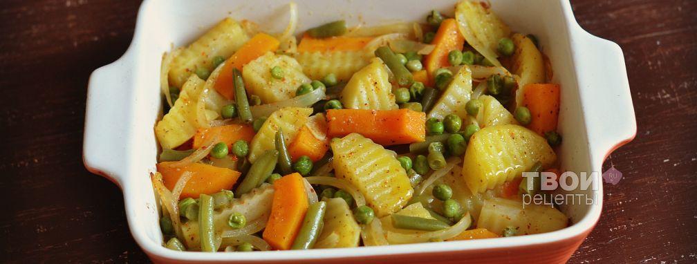 Картофель с овощами - Рецепт