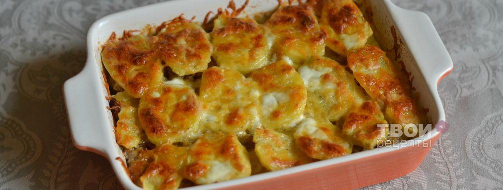Картофельная запеканка с фаршем - Рецепт