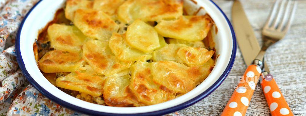 жареная картошка со сметаной с грибами