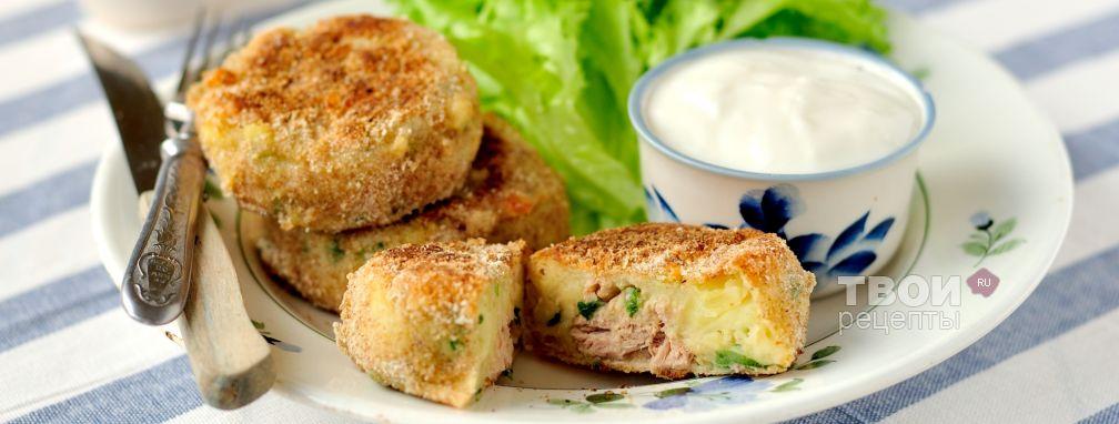 Котлетки из картофеля и тунца - Рецепт