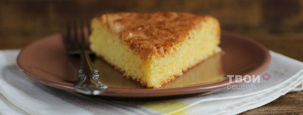 Кукурузно-апельсиновый пирог от Марты Стюарт - Рецепт
