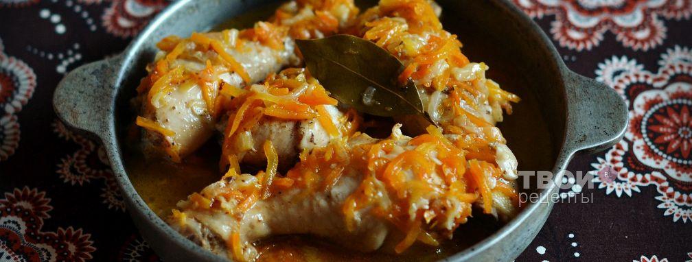 Куриные голени на сковороде - Рецепт