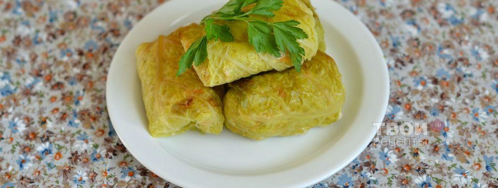 Куриные голубцы в листьях савойской капусты - Рецепт
