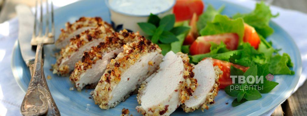 Куриные грудки в арахисовой панировке - Рецепт