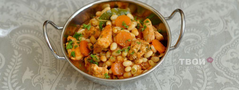 Курица с фасолью - Рецепт