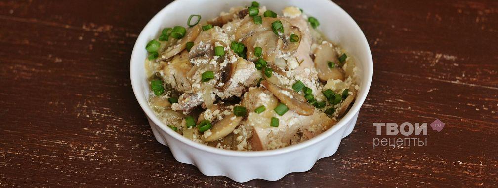 Курица с грибами в горшочке - Рецепт