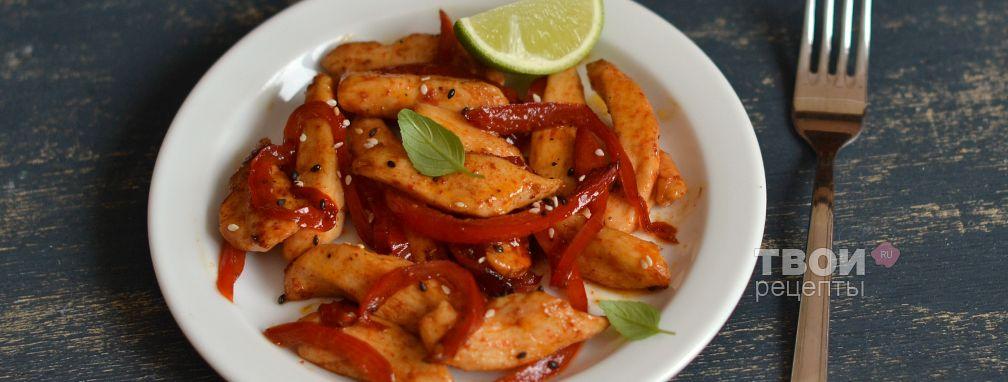 Курица в карамели - Рецепт