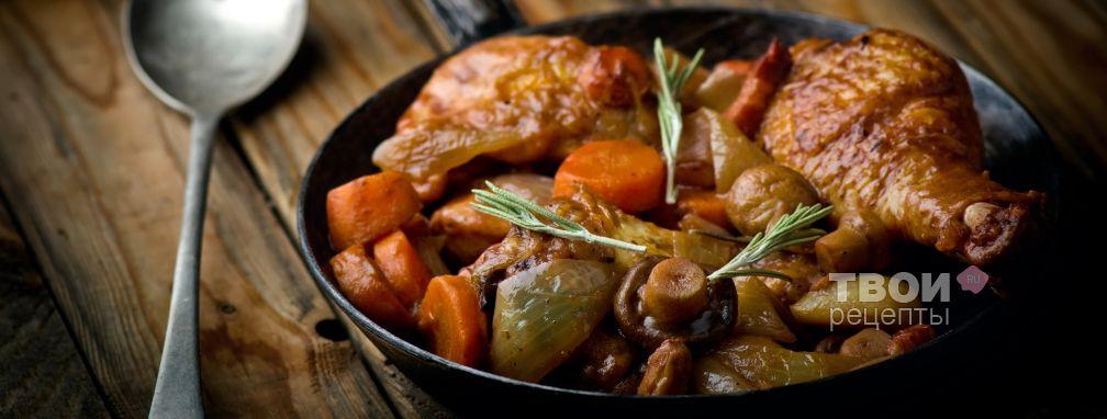 Курица в вине - Рецепт