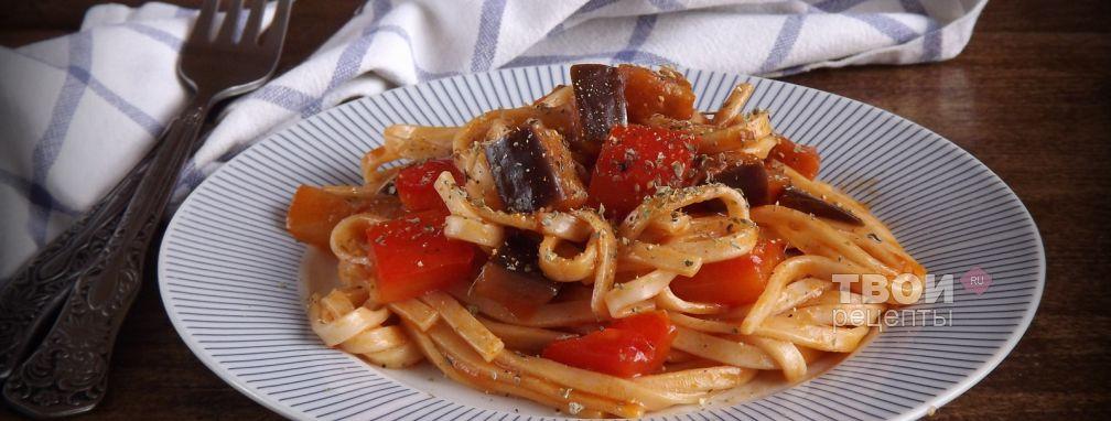 Лапша удон с овощами в кисло-сладком соусе - Рецепт
