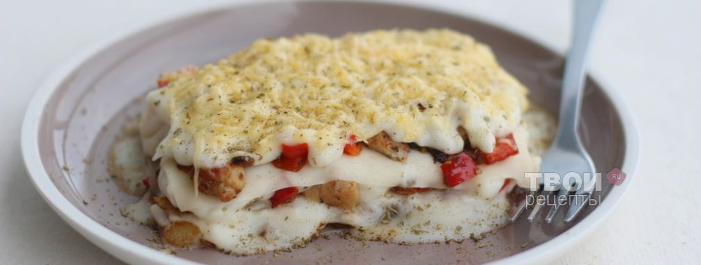 Лазанья с курицей - Рецепт