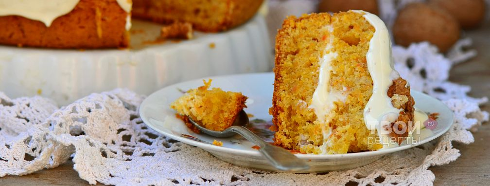 Морковный пирог в мультиварке - Рецепт