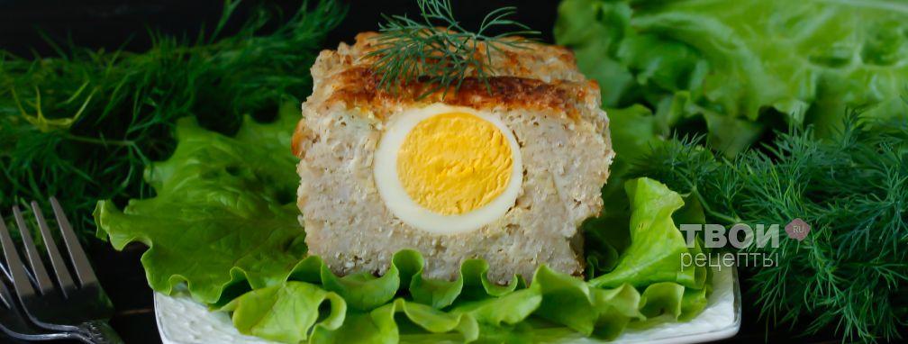 Мясной рулет с яйцом - Рецепт