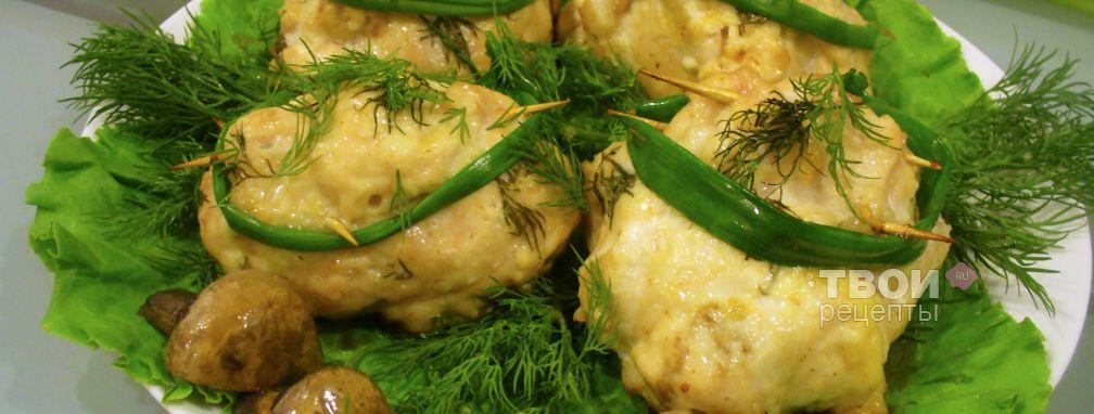 Мясные мешочки с грибами - Рецепт