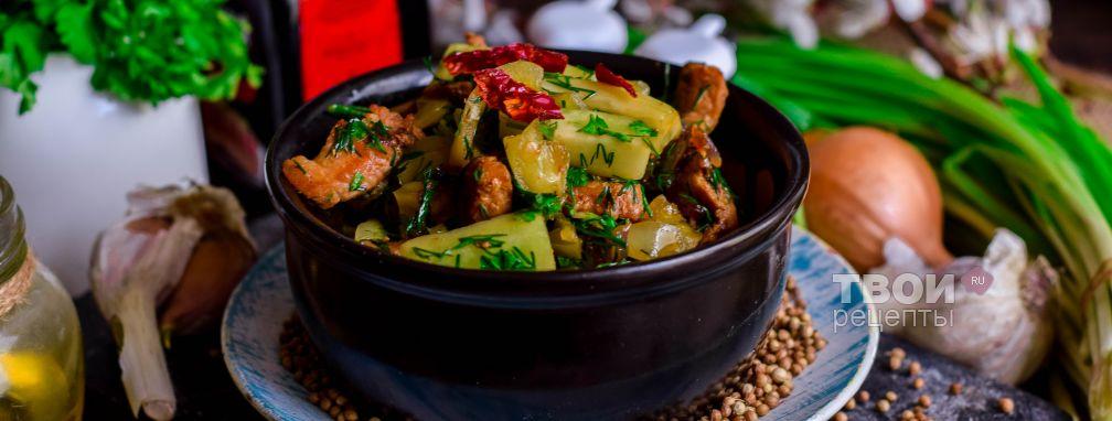 Огурцы с мясом по-корейски - Рецепт