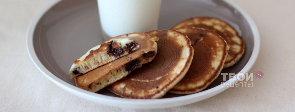 Оладьи с шоколадом - Рецепт