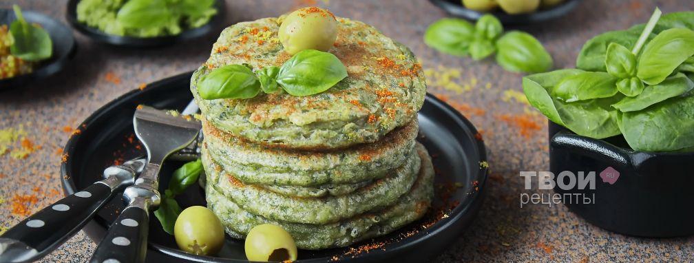 Оладьи с зеленью - Рецепт