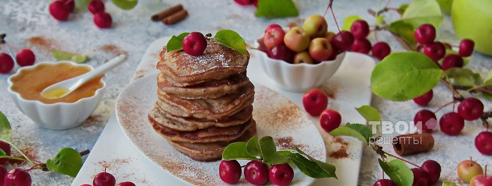 Оладьи яблочные на кефире - Рецепт