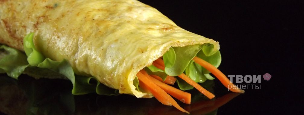 Омлет с пряной морковью - Рецепт
