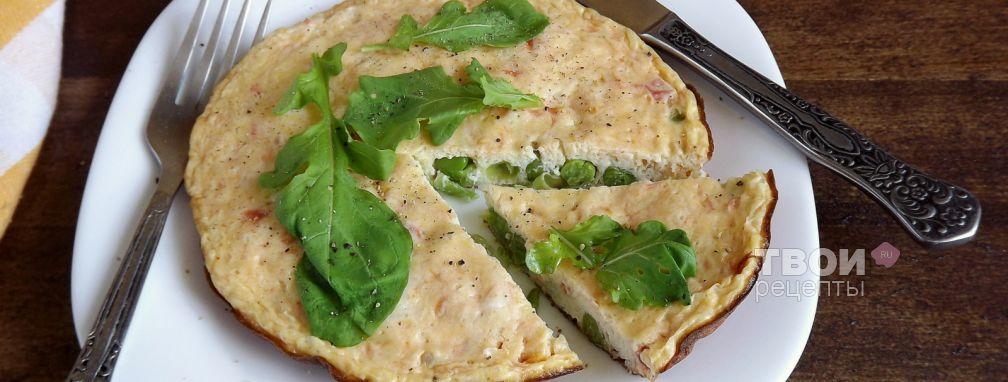 Омлет с томатами и зеленым горошком - Рецепт