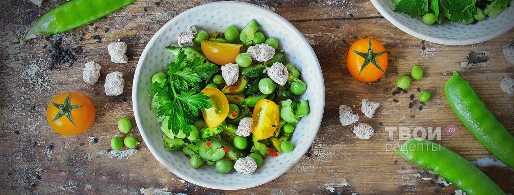 Острый салат с огурцами - Рецепт