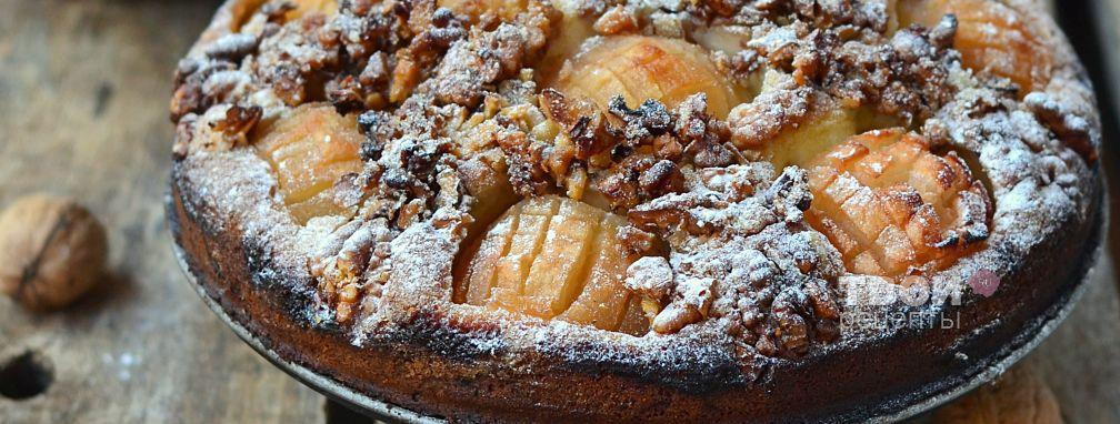 Открытый пирог с яблоками - Рецепт