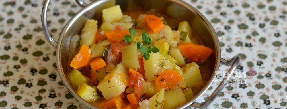 Овощи, тушеные в мультиварке - Рецепт