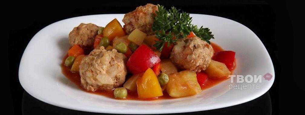Овощное рагу с фрикадельками - Рецепт