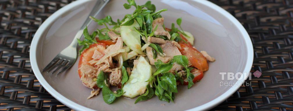 Овощной салат с тунцом - Рецепт