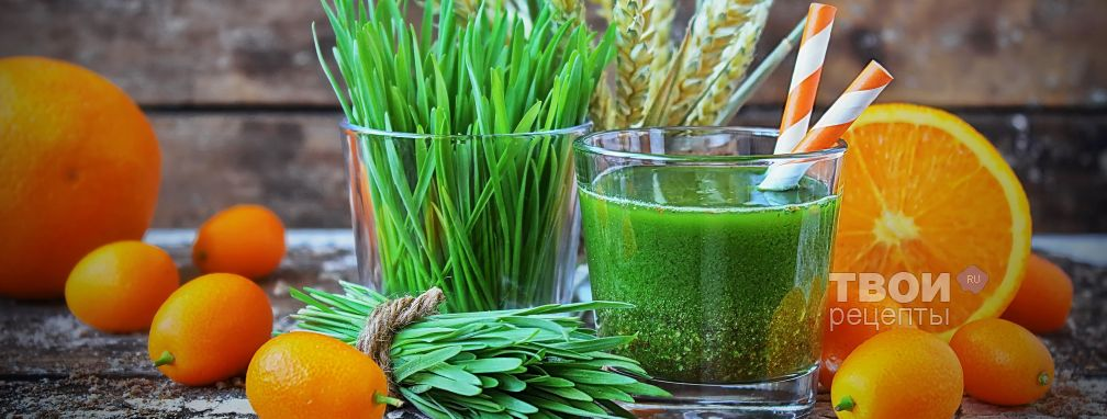 Сок из ростков пшеницы - Рецепт