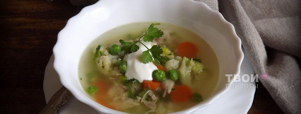 Овощной суп с курицей - Рецепт