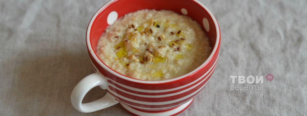 Овсяная каша с сыром и оливковым маслом - Рецепт
