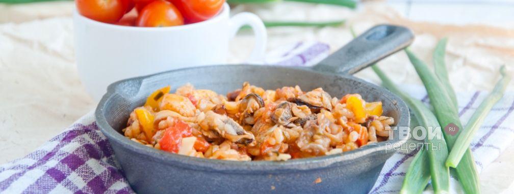 Паэлья с морепродуктами - Рецепт
