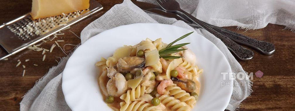 Паста с морепродуктами - Рецепт